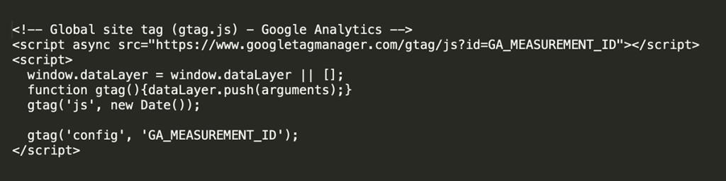 gtag javascript code